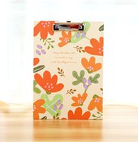 Wholesale Floral A4 Clip Binder File Working File Folder Stationery Filing Production cm