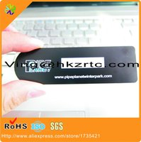 Wholesale 100pcs mm thickness mm stainless steel material plated matte black metal name card