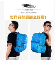 Wholesale fashion Han edition skin waterproof and lightweight backpacking trip foldable backpack mountaineering outdoor light package bag