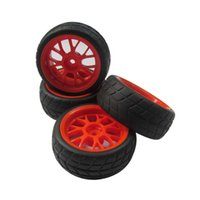 airplane tires - 4pcs Wheel Rims Rubber Tires for RC on road Touring Sprot Car mm Hub