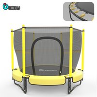 Wholesale 60inch mini indoor kids trampoline with safety net for christmas