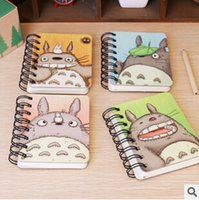 Wholesale 2016 hot selling cm Cute My Neighbor Totoro Hard Cover Coil Book Portable Pocket Notebook Diary Notepad Escolar Papelaria