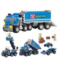 Wholesale 163pcs KAZI kids Christmas gift Enlighten educational toys Dumper Truck DIY toys building blocks children toys playmobile