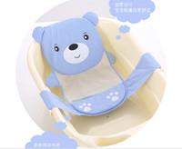 Wholesale 2016 Hot slae Adjustable baby bathtub cartoon pattern Newborn Safety Security Bath Seat Support Baby Shower