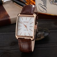 Wholesale New Arrival Stylish Simplicity Square Dial Leather Belt Alloy Shell Watch Men s Casual Luxury Fashion Watches