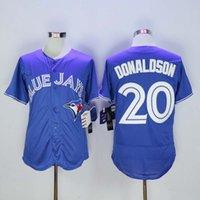 Wholesale Blue jays Majestic Josh Donaldson Baseball Jerseys Toronto Blue Jays Jerseys White Black Red Blue Color