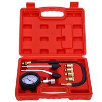 auto compression tester - Motor Auto Petrol Gas Engine Cylinder Compression Gauge Tester Tool Car Diagnostic Tool New Rapid Type Pressure Gauge Tester Kit