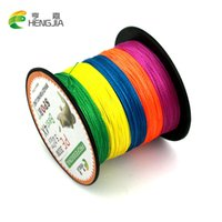 Wholesale 300M Brand HENGJIA Multifilament PE Braided Fishing Line LB to LB China Super Strong Colorful FIshing Accessories