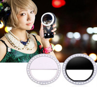 Wholesale Selfie Portable LED Ring Fill Light Camera Photography For IPhone Android Phone