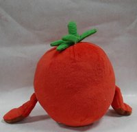 Wholesale New choose one super fruits banana strawberry cherry apple orange pears stuffed plush doll toy