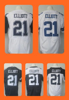 Wholesale Men s Ezekiel Elliott Black White Draft Football Jerseys Top Quality Drop Shipping Can Mixed orders Hot Selling