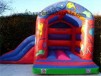 Wholesale 2016 factory price of inflatable bounce house with slide inflatable slide for sale