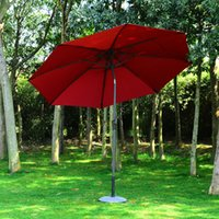 aluminum patio umbrellas - 9 Aluminum Patio Umbrella Solar LED Outdoor Parasol Sunshade Cover
