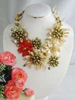Wholesale Newest Design Nigerian Women s Wedding Shell Flower Necklace