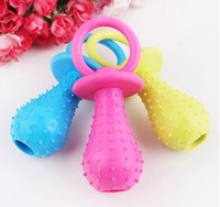 Wholesale Dog rubber pacifier chew toy big size cm resistant to bite pet supplies products for animals mini pacifier rubber