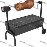 bbq pig roast - cm Commercial Hog Roast Machine BBQ Spit Chicken Pig Goat Roaster Rotisserie Stainless Steel v v kg Roasting Motor