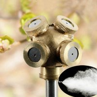 Wholesale New Brass Spray Misting Nozzle Garden Sprinklers Fitting Hose Water Connector Hole PF