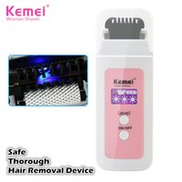 Wholesale Kemei Rechargeable Safe thorough Epilator No No Hair Removal Device Lady Mens Professional Hair Removal Device for Face Body