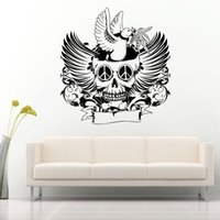 Wholesale Fashion Halloween skull wall sticker living room bedroom sofa TV background decoration removable waterproof