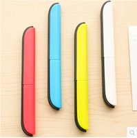 Wholesale YYYYAAAA Bright color personality scissors pen type portable manual safety scissors scissors with a protective sleeve