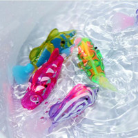 Wholesale New Robo LED Fish Water Activated Battery Powered Robofish Kids Clownfish Bath Toys Children Robotic Fish Electronic Pet