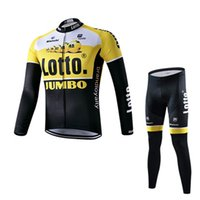 bianchi winter - 2016 Team Lotto Jumbo Cycling Jerseys Bianchi Yellow Road Bike Wear Winter Thermal Fleece Cycling Clothing Ropa Ciclismo