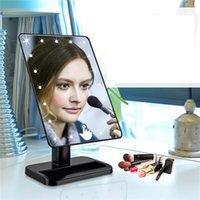 bedroom dresser mirror - LED Lighted Mirror Bedroom Lighting Dresser Makeup Mirror Lamp Multifunction Touchable UV LED Lamp Low Power Travel Makeup Mirror Portable