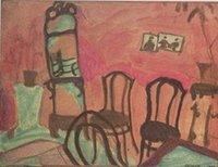 МАЛЕНЬКИЙ ПАРЛОР, 1908 by MARC CHAGALL, Живопись маслом портретов высокого качества, неподдельная Handnainted на размере Canvas подгонянным