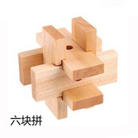 Wholesale Toy Intelligence Wooden Wood d Iq Puzzle Magic Cube Toy Brain Teaser Gift Classical Intellectual Wooden Puzzle Unlock Tinker Toys ZD024