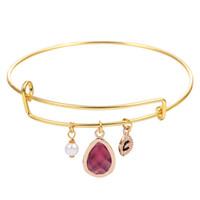 beautiful friendship - 10pcs Beautiful Jewelry Drop Stone Initial Personalized Bangles Friendship Bracelets for Women and Girls