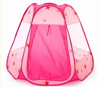 baby structure - New foldable ocean ball pink play game six side tent kid toys hexahedral structure baby indoor outdoor funny sport tent