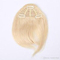 Wholesale 3 Clips Inch b Multi Color Combination Human Hair Extension Fringe Hair Clips in Easy Apply Human Hair Bangs