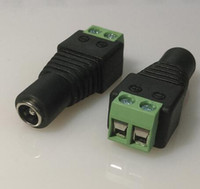 Wholesale 2 x mm DC Power Plug BNC Connector DC Female Adapter Surveillance Camera Power Supply For CCTV IP Camera