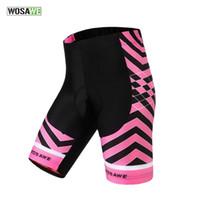 Wholesale WOSAWE Women s Cool Gel Padded Cycling Shorts Shockproof MTB Road Bike Shorts Bicycle Bermuda Ciclismo Short Pants