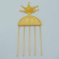 Wholesale Ethiopian Hairpin Jewelry K Gold Plated Ethiopia Hair Combs Africa Hair Pin Eritrea Kenya Hair Sticks Habasha Hair