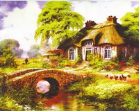 art reproductions prints - Thomas Kinkade Landscape Oil Painting Reproduction High Quality Giclee Print on Canvas Modern Art Decor TK097