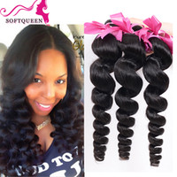 Wholesale Loose Deep Bundles - Best Brazilian Loose Wave Human Hair 7a 100% Cheap Brazillian Hair Bundles Peruvian Malaysian Indian Loose Wavy Hair Extentions 4pcs