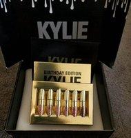 Wholesale 6pcs Set Kylie Cosmetics by Kylie Jenner Matte Lipstick Mini Kit Birthday Edition Limited Mattes