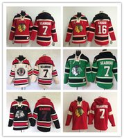 Wholesale Men s NHL Ice hockey jersey Fleece Hoodie Chicago Blackhawks SEABROOK KRUGER The traditional embroidery