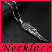 alternative necklaces - Personality Alternative Feathered Wings Pendants Rock Male Ambition Restore Ancient Ways Jewelry One Wing Necklace Pendant