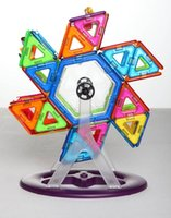 Wholesale 46pcs Magnetic Building Blocks Creator Carnival Set Rainbow colors Magnet Ferris Wheels Block Toys for kids Christmas Gift