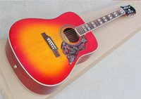 Wholesale belief14 Hot sell inch folk rounded Hummingbird CS color wood guitar Acoustic Guitar