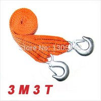 Wholesale Tons M Motorcycle car towing rope with Hooks Cable motorcycel car Leash for Heavy Duty car Emergency