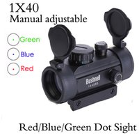 Wholesale New Manual Ajustable Tactical Hunting Holographic x mm Airsoft Red Green Dot Sight Rifle Scope mm Rail Mount