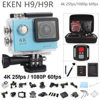 Wholesale Original EKEN H9 H9R remote action camera Ultra HD K WiFi p fps quot screen lens Helmet gopro style waterproof camera