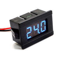 Wholesale wire quot DC V V Blue Digital Voltmeter Volt Panel Meter for V V V V V V V