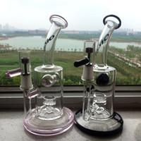 ceramic jar - 2016 new Glass bong honeycomb perc bongs with titanium nail oil rig with ceramic nail MM Joint wax jar