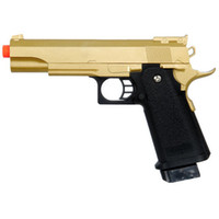 airsoft metal pistol - GOLD METAL SPRING AIRSOFT M A1 FULL SIZE PISTOL HAND GUN AIR w mm BBs BB