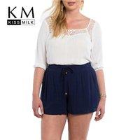 Wholesale Kissmilk Plus Size New Fashion Women Slim Hot Shorts Drawstring Big Large Size Sexy Short XL XL XL XL