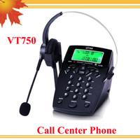 Wholesale Call center telephone headset phone call center phone telephone with call center headset telephone headset VT750